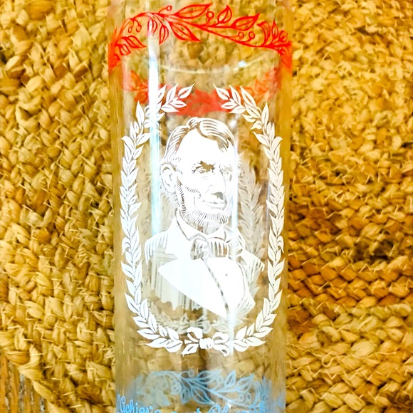 Vintage Abe Lincoln Drinking Glass❤️